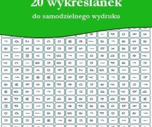 20 wykreślanek do samodzielnego wydruku