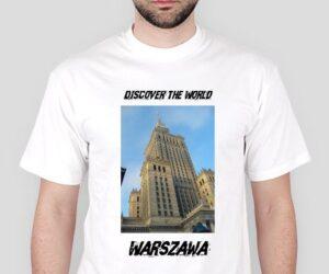 Discover the World – Warszawa Koszulka męska