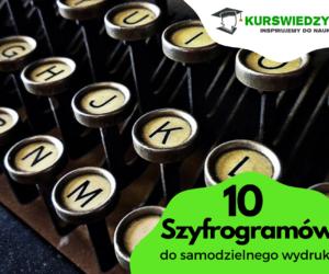 10 szyfrogramów do samodzielnego wydruku